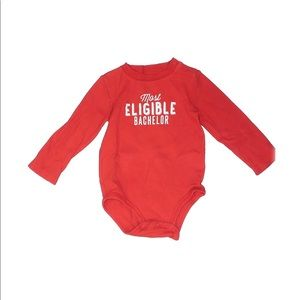 Carter's One Piece Long Sleeve Red 24 months